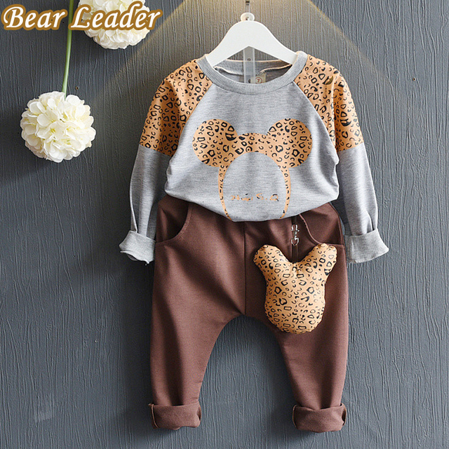 Bear Leader Girls Clothing Sets 2016 New Fashion Autumn Kids Clothing Sets Cartoon Sweater+Pants 2pcs for Baby Girl Clothes 3-7Y