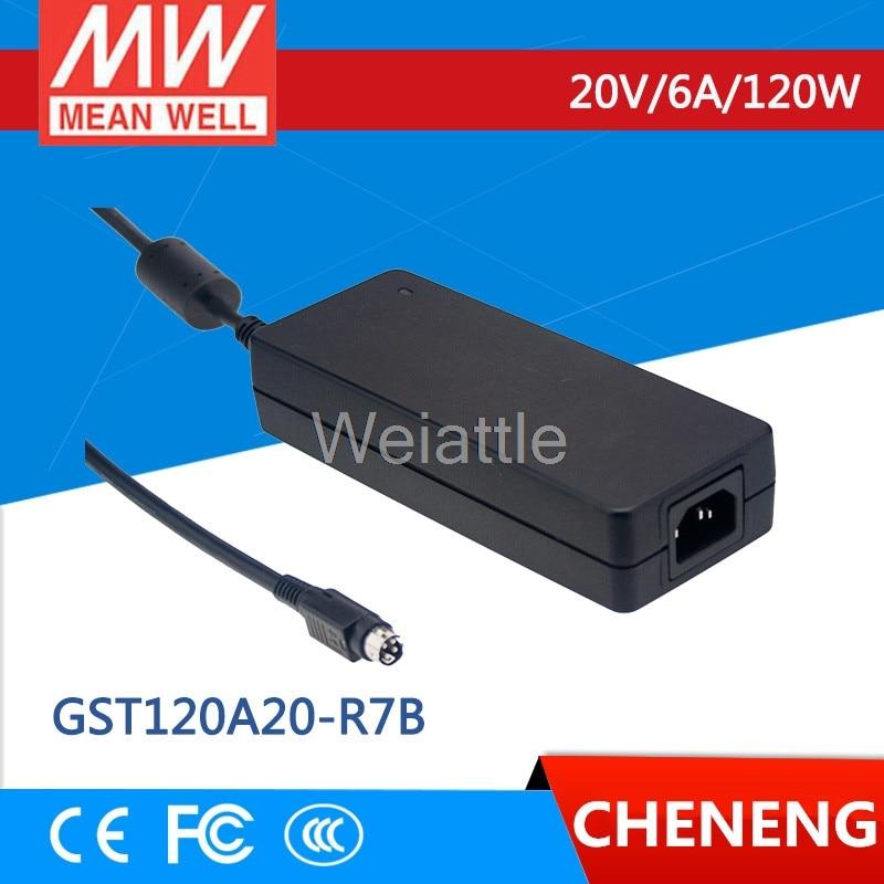 MEAN WELL original GST120A20-R7B 20V 6A meanwell GST120A 20V 120W AC-DC High Reliability Industrial Adaptor genuine mean well gst120a12 r7b 12v 8 5a meanwell gst120a 12v 102w ac dc high reliability industrial adaptor