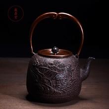 Ручной работы металла ремесло чугунный чайник набор японский чайный горшок 1300 мл Посуда Кунг Фу Infusers чай церемония инструменты
