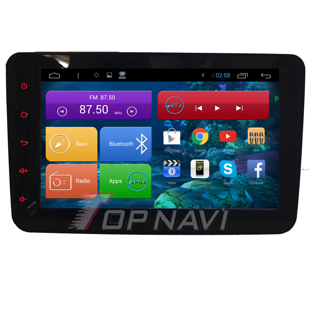 Top 8'' Quad Core Android 4.4 Car GPS for VW Magotan 2009 2010 2011 2012 With Stereo Radio Audio Map 16GB Flash Free Shipping