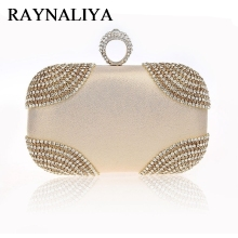 Knuckle Clutch Women Gold Diamond Evening Bag Crystal Purse Party Wedding Clutches Nigh Club Handbag Ladies Totes SFX-A0093