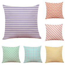 Colorful Candy Geometry Pattern Cushion Cover Geometric Printed Pillowcases Linen Pillow Covers Sofa 45x45cm Cushion Cover
