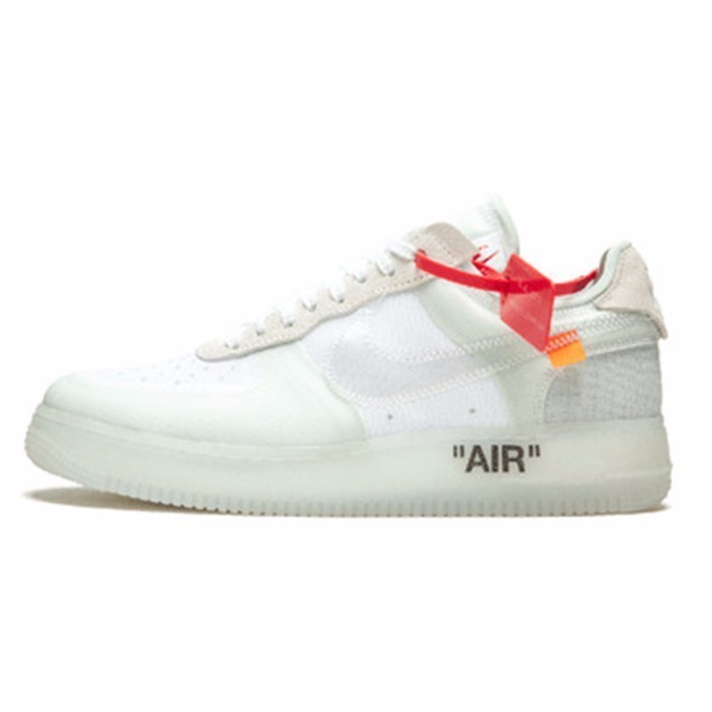 Nike Air Force 1 Low Off White Men Skateboarding Shoes New Arrival Air Cushion Fashionable Breathable SneakersAO4606 100