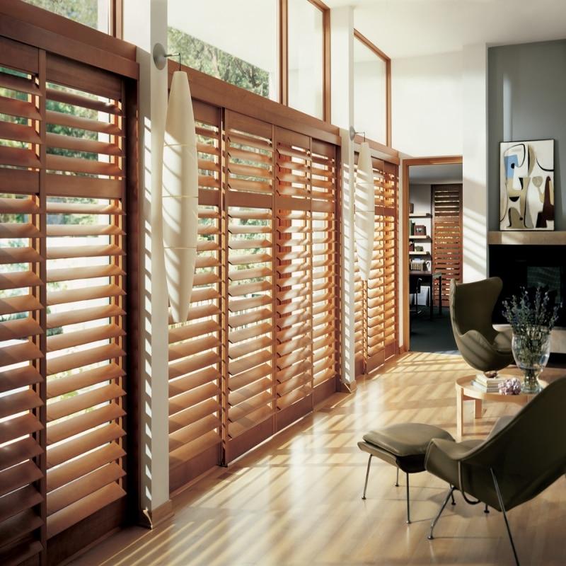 European style wooden shutters wood venetian blinds - European exterior window shutters ...