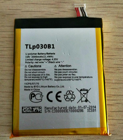 MATCHEASY Mobile phone battery fit for Alcatel One Touch Pop S7 OT-7045 <font><b>7045Y</b></font> TLP030B1 TLP030B2 batteries image