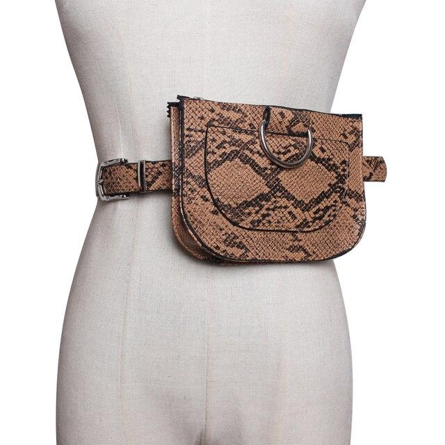 8e5b0d2f60f US $8.8 29% OFF|Aliexpress.com : Buy Ladies Belt Leather Hip Bag Female  Fashion Snake PU Chest Bum Hip Mobile Phone Waist Bags Women Leather Fanny  ...