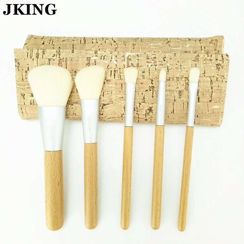 2017 NEW Nature wooden makeup Brush set with Bag Beautiful Traveling Makeup Brush set nature explorer box set