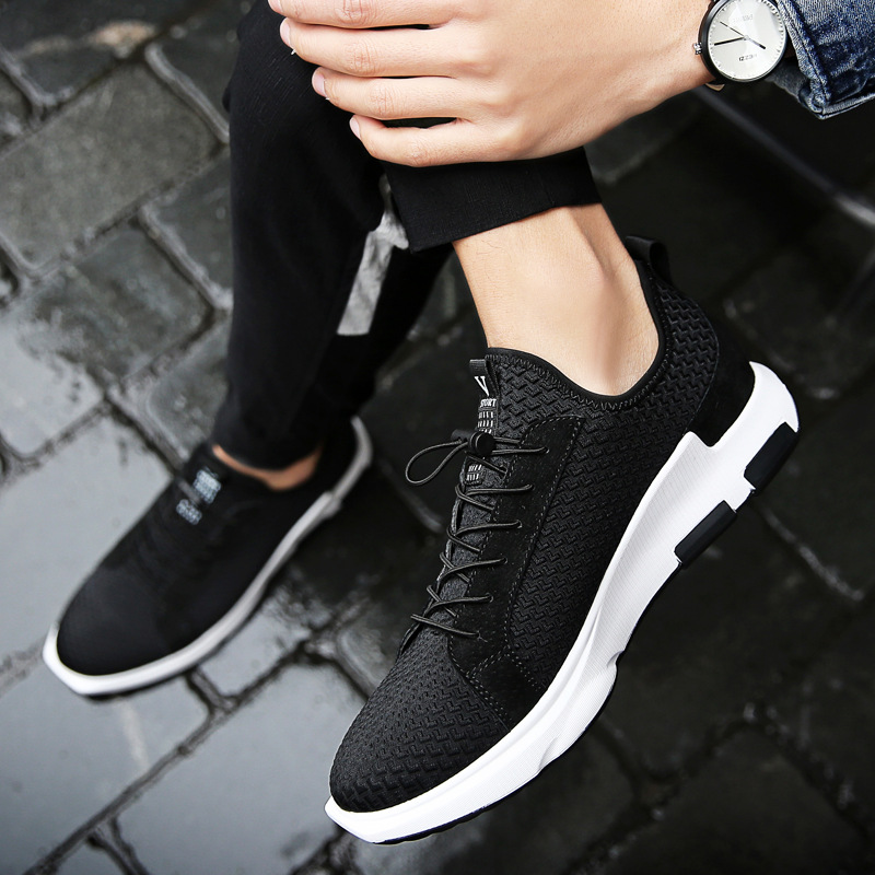 TBA Brand Gentlemen Light Running Shoes Leather Rubber Sneakers New Thick Soled Outdoor Running Sports Shoes For Man raf simons raf simons x adidas низкие кеды и кроссовки