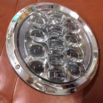 105W Off Road Headlight led 7'' Round 6000k White Lights High/Low Beam  for Jeep Wrangler JK CJ TJ Front Bumper Headlight