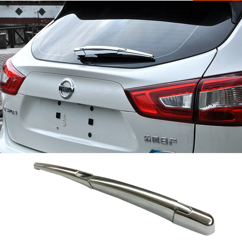 <font><b>ACCESSORIES</b></font> FIT FOR <font><b>NISSAN</b></font> <font><b>QASHQAI</b></font> <font><b>2014</b></font> 2015 2016 CHROME REAR WINDOW WIPER ARM BLADE COVER TRIM OVERLAY NOZZLE BEZEL image
