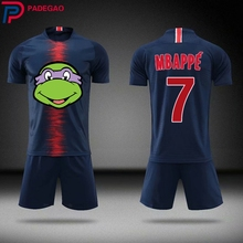 2cf5e5d7408 Diy Customize men Breathable 2018 2019 Soccer Jerseys 7 Kylian Mbappe  cartoon funny Uniforms Football Kit