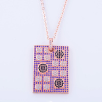 Elegant And Mysterious Geometric Charm Micro Pave Jewelry Individuality Girl Decoration Necklace Zircon Jewelry Schmuck