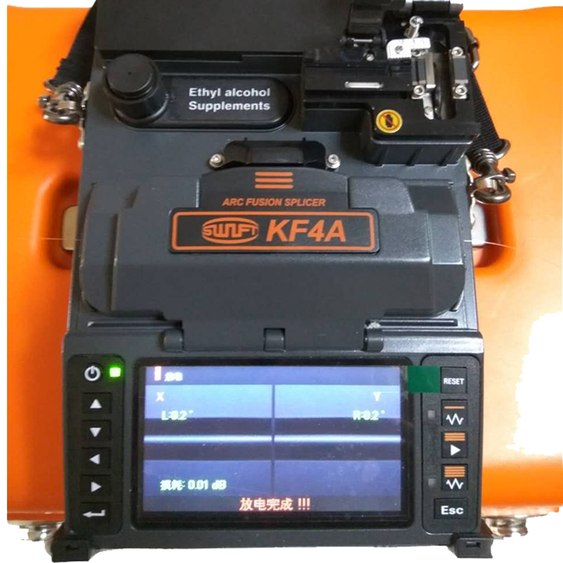 High precious <font><b>Ilsintech</b></font> KF4A Fiber Optical Fusion Splicer Enlgish system for FTTH fusion splicing project with fiber tools image