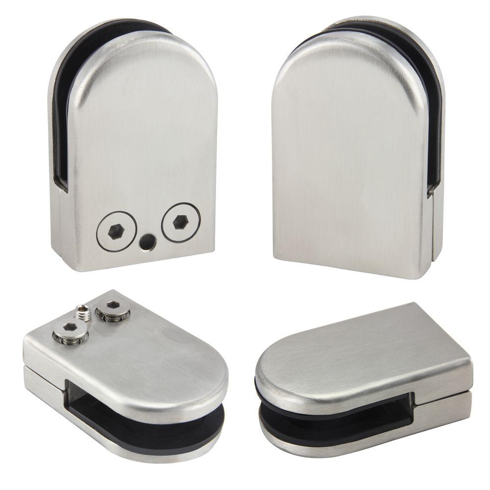 12X Stainless Steel Glass Clamp Holder For Window Balustrade Handrail 53*33*20 Mm