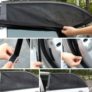 Image 5 - 2Pcs 110*50CM Window Sun Shade Black Mesh Cover Child UV Protector Shield For Most Car Auto Car Side Rear Window Sun Shade