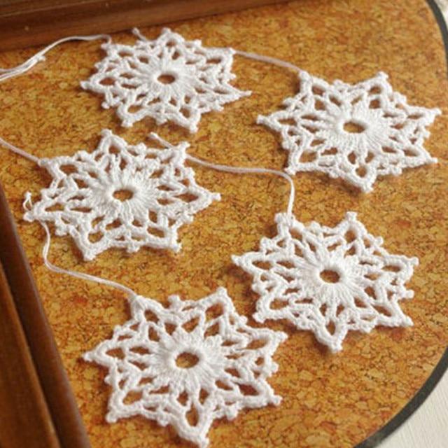 Häkeln Schneeflocken Hängen Weihnachtsschmuck Decor Spitze