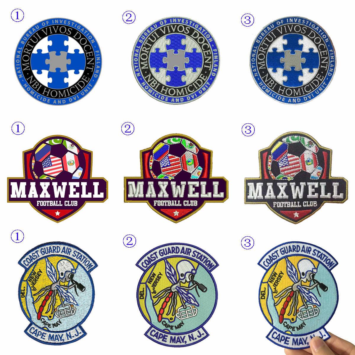 Kustom Bordir Patch besi pribadi Anda sendiri pada biker militer patch untuk pakaian applique DIY pvc lencana surat stiker