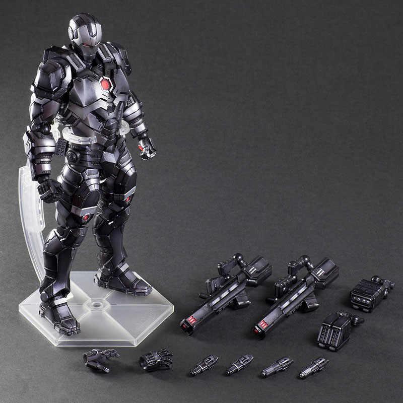 Anime Avengers Homem De Ferro Máquina de Guerra Figura de Ação Playarts Kai hot boys Toys Modelo Coleção artes Jogo Super Herói Ironman presente