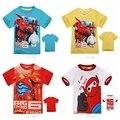 Лето мальчики одежда младенцы комикс большой Hero 6 T - рубашки хлопок короткий рукав свободного покроя топы тис 5 цветов