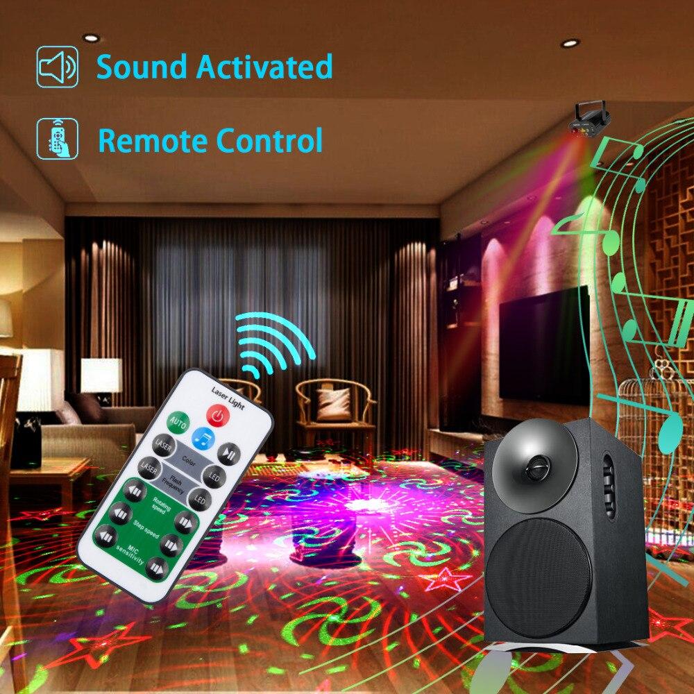 128 Patterns Projecteur DJ Laser Stage Light RG rouge vert Bleu LED - Éclairage commercial - Photo 4