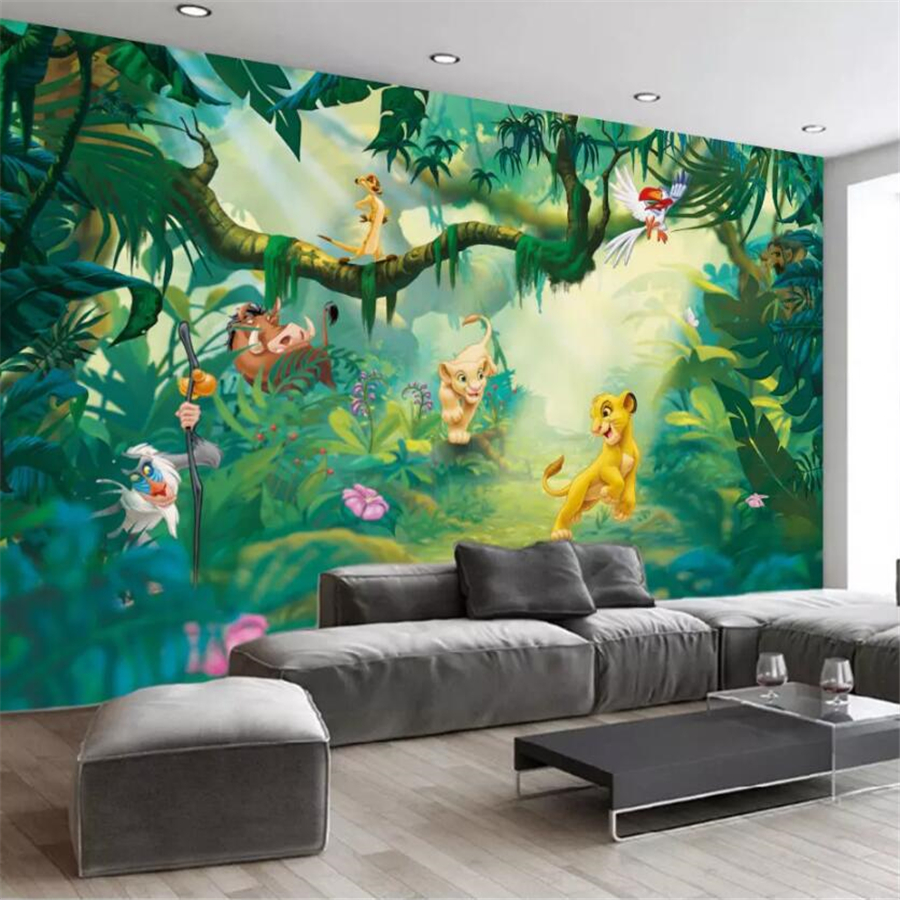 Beibehang Custom Large Wallpaper 3D Nordic Abstract Cartoon Animal Wood Fantasy Background Wall Decorative Painting 3d Wallpaper
