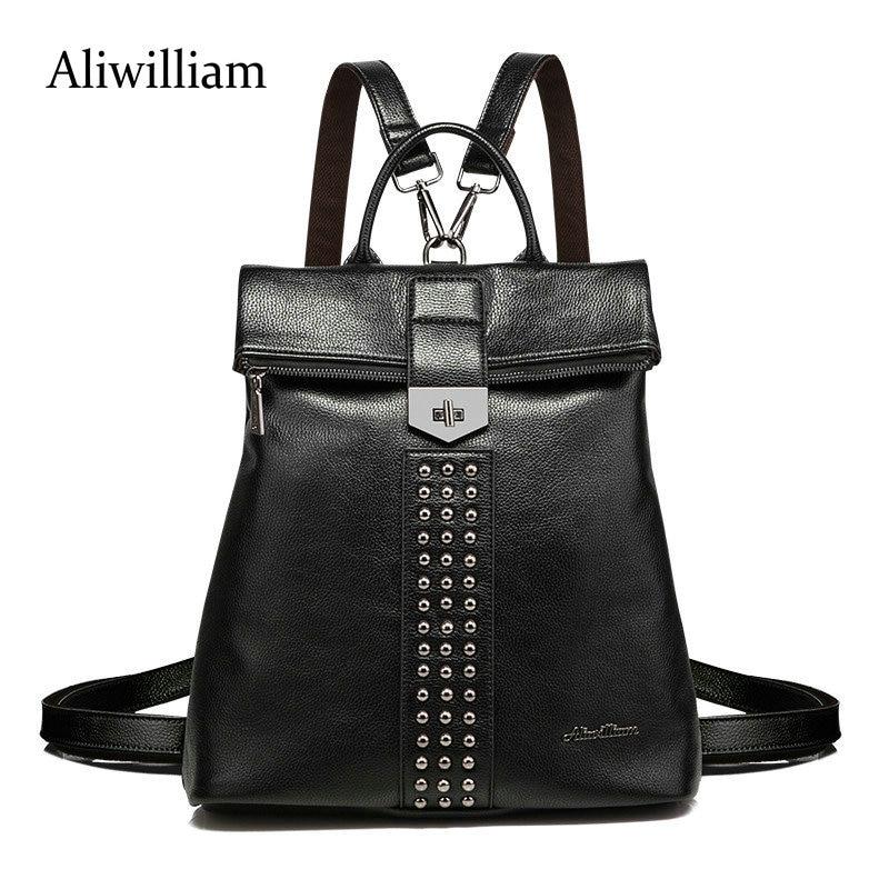 Aliwilliam 2017 Women Fashionable Leather Backpacks Original Design Zipper Famous Designer Brand Preppy Style Stylish Back