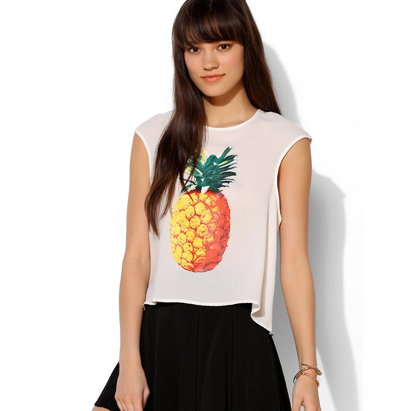 Free Delivery 2014 Fashion Urban Outfitters Pineapple Solid Color