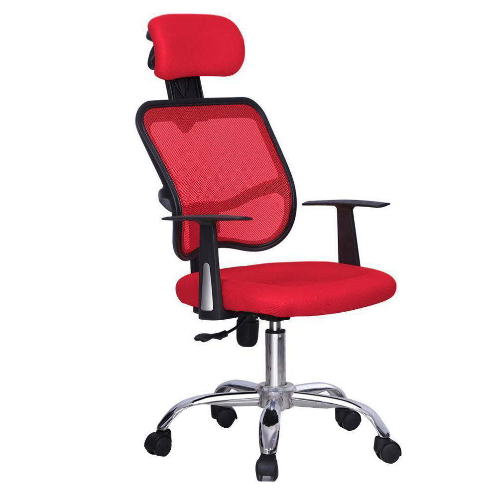 Red Ergonomic Executive Mesh Computer Office Desk Task Chair 240337 ergonomic chair quality pu wheel household office chair computer chair 3d thick cushion high breathable mesh