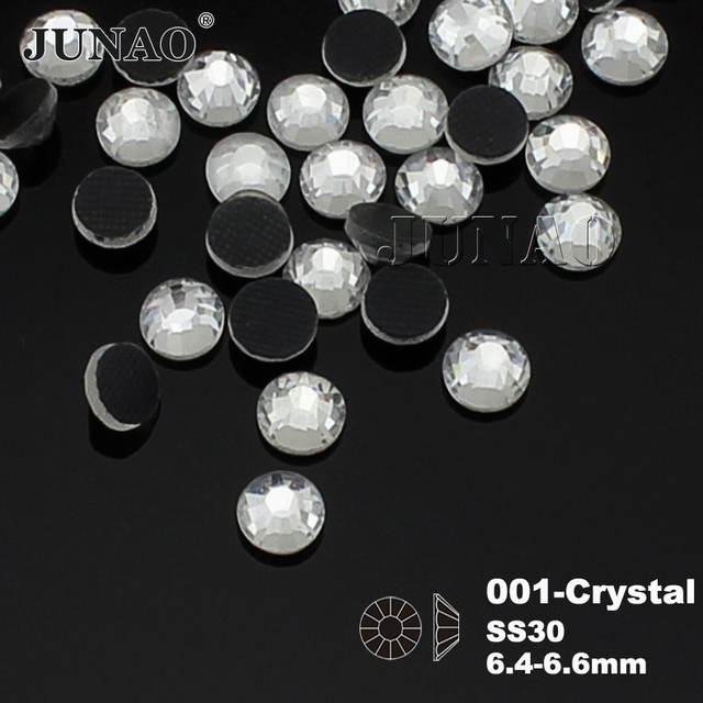 SS30 Clear White Crystal Hotfix Rhinestones Flat Back Glass DMC Iron On Strass  Crystals Stones For Clothing Dress Crafts 32447d2a4771