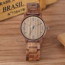 Bamboo Wooden Watch Men Full Wood Lightweight Handmade Wrist Watches Timepieces Clock Male Leisure reloj hombre