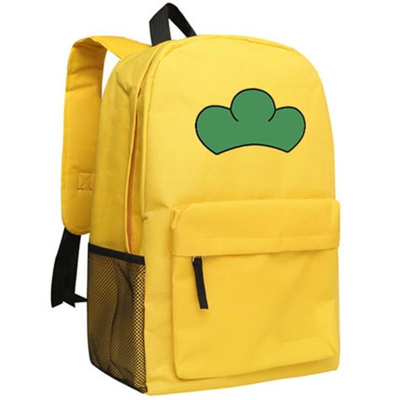 Osomatsu san Matsuno Ichimatsu Green/Red/Blue/Yellow Backpacks Daily Casual Rucksack Packsack Students Travel Bags Free Shipping
