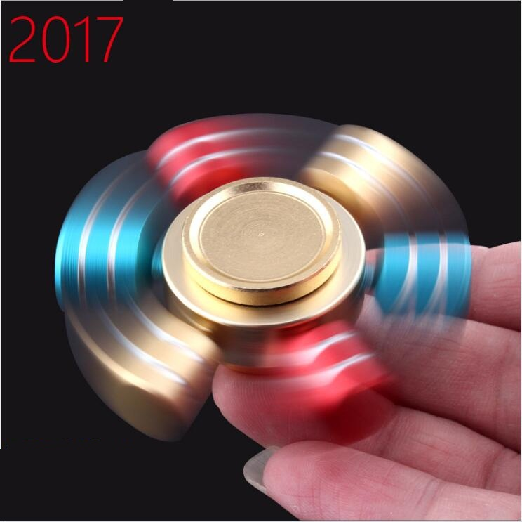 Fidget Spinner Metal DIY Hand Spinner Made Focus Colorful handspinner Stress Fidget Toy Q14 6 2cm