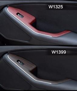 Image 5 - 2 Pieces 100*30cm Automobiles Safe Door Central Control Panel Sticker Wood Grain Waterproof Change Color DIY Styling Wrap Roll