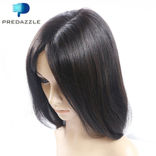 2017 PREDAZZLE 10A Brazilian Lace Front Human Hair Wigs Perruque Straight Virgin Baby Hair Glueless Wig for African Americans