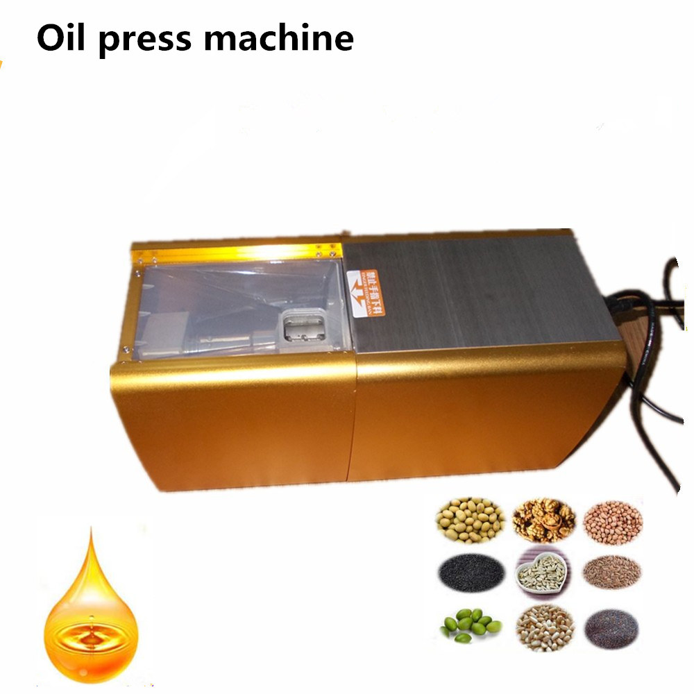 Automatic Small Peanut Oil Press Machine Oil Soybean Presser 220V 200W stainless steel Brand new For Home Use 1 pcs 38 38cm small heat press machine hp230a
