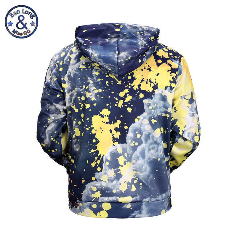 Mr.BaoLong New Fashion 3D Hoodies Men/Women Sweatshirt Print Sky Paint Pullover Hooded Tracksuit Hip Hop Casual M to XXXL