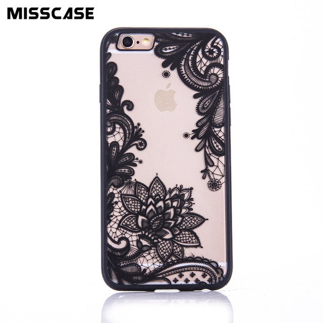 Mobile Phone bag case for iphone 5 5s SE 5c 4 4s protect Cases Sexy Lace beauty Flower cover case For iphone 6 6S plus 7 plus
