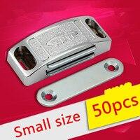 50 pcs 44mm En Gros Cabinet Porte Captures Alliage Magnétique Tactile Damper Tampons Arrêter Avec Vis Pour Matériel De Cuisine