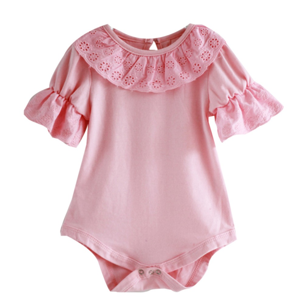 Cotton Baby Rompers Infant Toddler Jumpsuit Lace Collar Short Sleeve Baby Girl Clothing Newborn Bebe Overall Clothes H3 cotton baby rompers infant toddler jumpsuit lace collar short sleeve baby girl clothing newborn bebe overall clothes