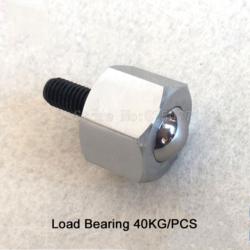 4PCS Hexagon screw universal ball cattle eye bearing ball M8 screw conveyor ball cattle eye wheel Load Bearing 40KG JF1344 100 pcs cattle bone
