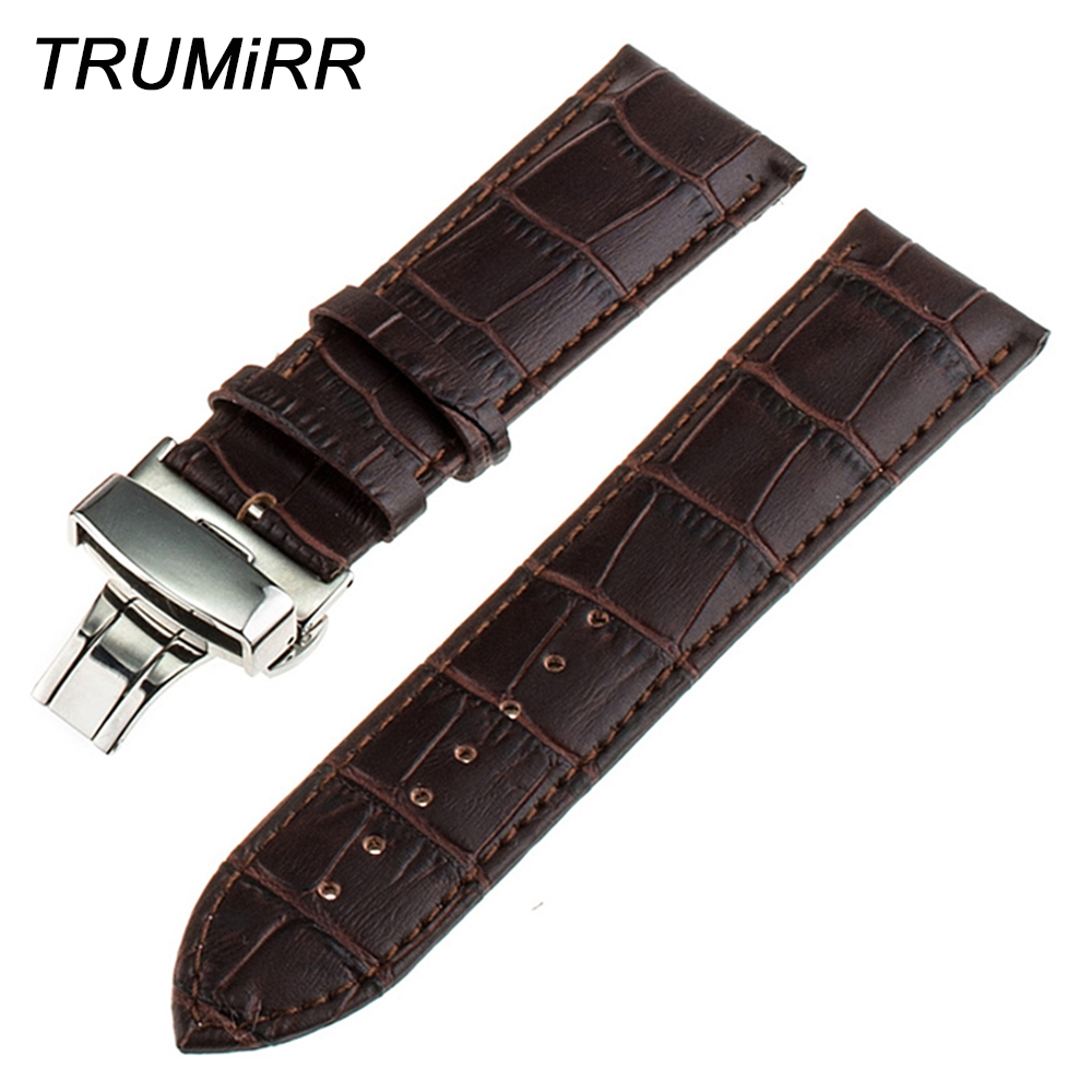 16mm 18mm 20mm 22mm Butterfly Buckle Watch Band for Timex