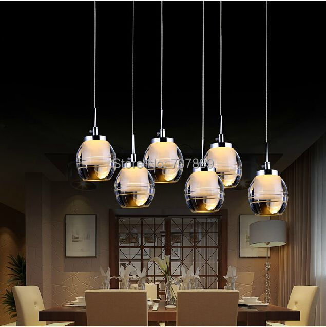Buy led pendant light acrylic dining room for Dining room 3 pendant lights