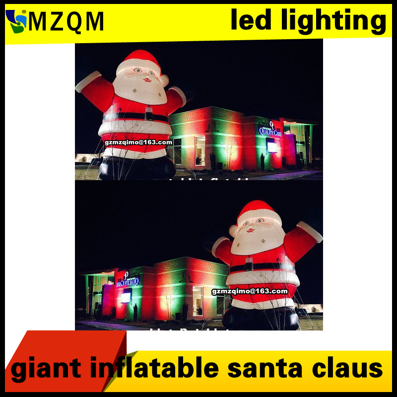 6m/20ft christmas decoration inflatable santa claus with led lighting, giant inflatable santa claus6m/20ft christmas decoration inflatable santa claus with led lighting, giant inflatable santa claus