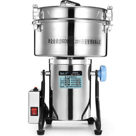 4500W/4500g Large Commercial Electric Grinder Mill Herb/Coffee/Pepper Grinder Stainless Steel Powder Crusher Kitchen Baking Tool