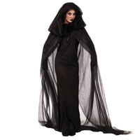 Halloween Purim Carnival Black Gothic Witch Costume Costumes For Women Adult Adulto Fantasia Long Dress Cosplay