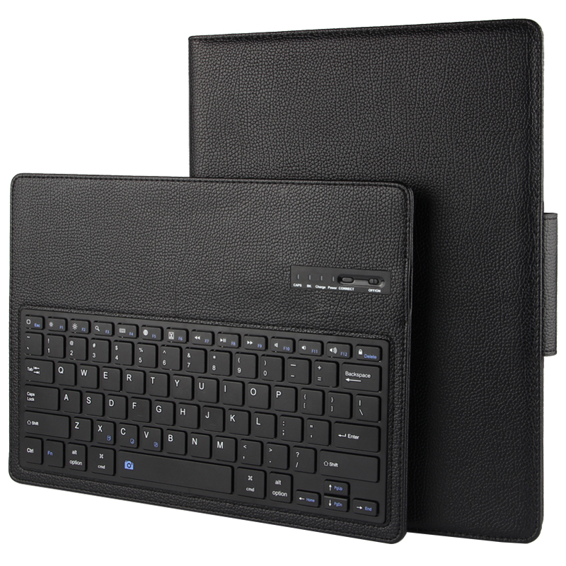 New 2017 Wireless Bluetooth Keyboard +PU Leather Cover Protective Case For iPad Pro 12.9 Case + Film + Stylus