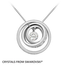 8 colors hot sale style concentric circles pendant necklace Crystals from Swarovski Christmas gift