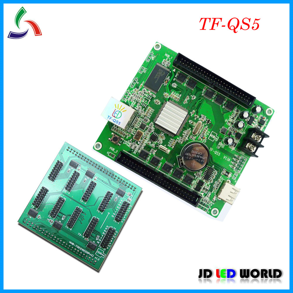 TF QS5 replace TF VTA02 RGB Video asynchronous LED display screen controller card supports Lan port
