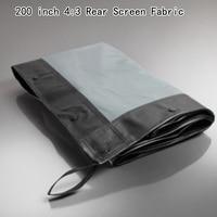 200 inch 4:3 Rear Screen Stof Pak Voor Snelle Vouwen Frame Projectie Beste Outdoor Display
