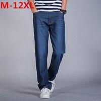 2017 plus size 12XL 9XL 10XL 11XL 8XL Mens Cargo Jeans pantaloni Hip Hop Designer Jeans Larghi Mens Loose Fit Pantaloni Casual cotone